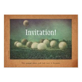 "The Giant Puff Ball Race 5"" X 7"" Invitation Card"
