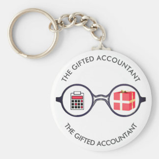 """""""The Gifted Accountant's Logo"""" Keychain"""
