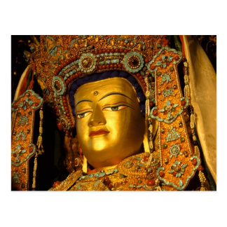 The gilded Jowo Buddha Statue, Jokhang Temple, Postcard