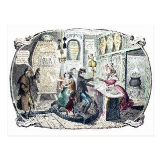 The Gin Shop vintage postcard