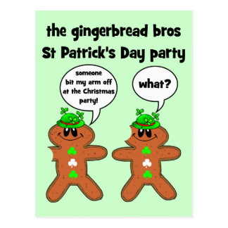 the gingerbread bros St Patrick's Day party Postcard