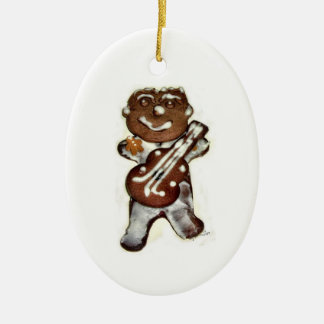 The Gingerbread Man Ceramic Oval Ornament