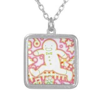 The_Gingerbread_Man Silver Plated Necklace