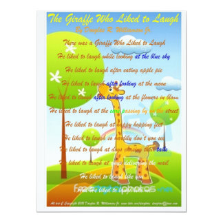 The Giraffe who Liked To Laugh Invitations