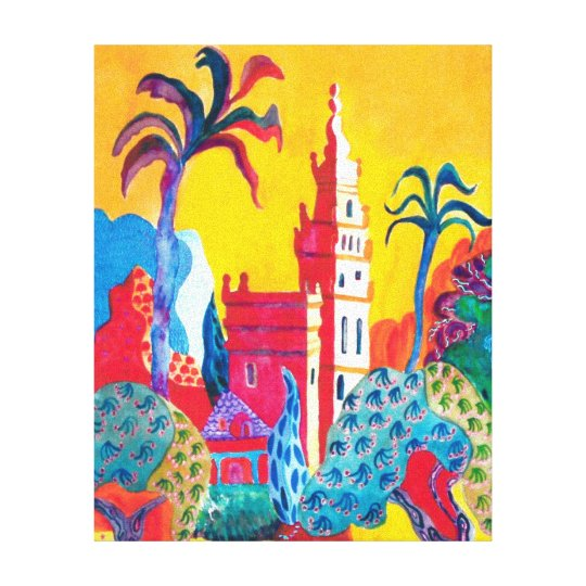 The Giraldi Tower in Seville. Canvas Print