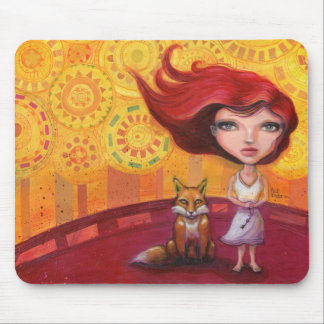 The Girl and the Fox Mouse Pad