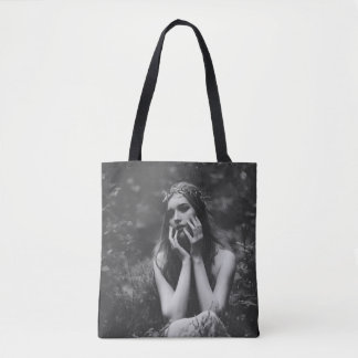 The girl in a wreath tote bag