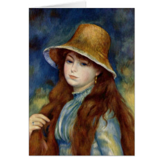 The girl of the farmer who wears the wheat straw card