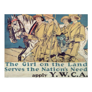 The Girl on the Land Serves the Nation's Need Postcard