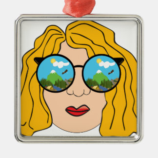 The girl that loves the outdoors metal ornament