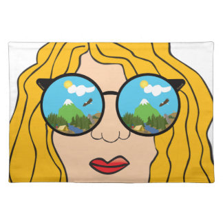 The girl that loves the outdoors placemat