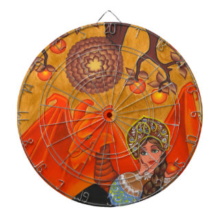 The girl, the serpent and the Apple... Dartboards