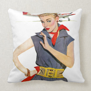 Airplane Pillows Amp Cushions Zazzle Ca