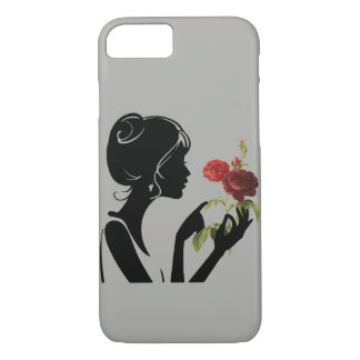 The girl with a flower I phone 7 phone case. iPhone 8/7 Case