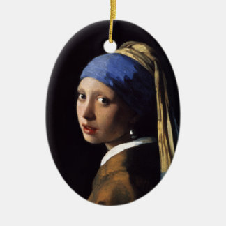The Girl With A Pearl Earring by Johannes Vermeer Ceramic Ornament