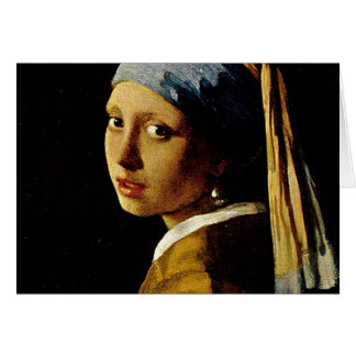 The Girl with a Turban Girl with the Pearl Earring Greeting Card