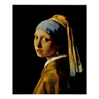 The Girl with a Turban/Girl with the Pearl Earring Poster