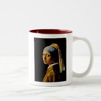 The Girl with a Turban/Girl with the Pearl Earring Two-Tone Coffee Mug