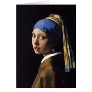 The Girl With The Pearl Earring Greeting Card