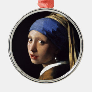 The Girl With The Pearl Earring Metal Ornament