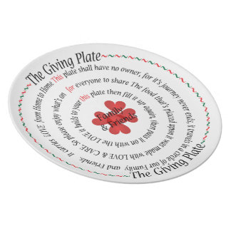 The Giving Family and Friends Plate