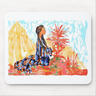 The giving tree a Native American Girl Praying Mouse Pad