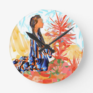 The giving tree a Native American Girl Praying Round Clock