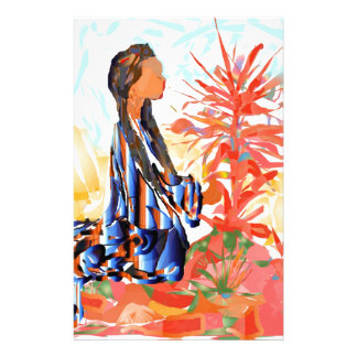 The giving tree a Native American Girl Praying Stationery