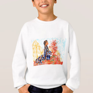 The giving tree a Native American Girl Praying Sweatshirt