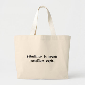 The gladiator is formulating his plan in the arena canvas bag