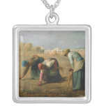 The Gleaners, 1857 Silver Plated Necklace