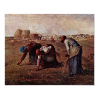 The Gleaners by Jean-Francois Millet Poster