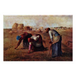 The Gleaners By Millet  (Best Quality) Poster
