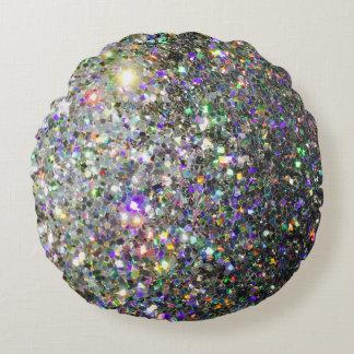 The Glitz Hologram Round Throw Pillow! Round Pillow