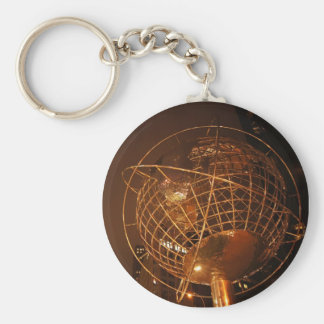 The Globe at Columbus Circle Basic Round Button Keychain