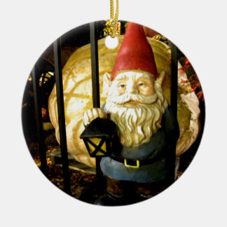 The Gnome and The Giant Round Ceramic Ornament