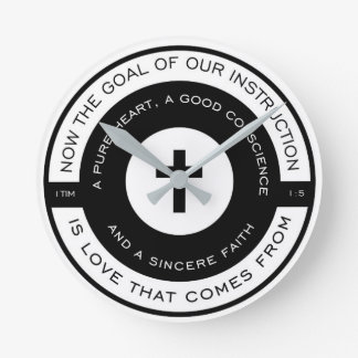 The goal of our instruction, 1 Timothy Scripture Clock