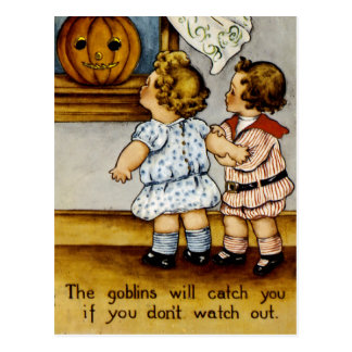 The Goblins Will Catch You! Postcard