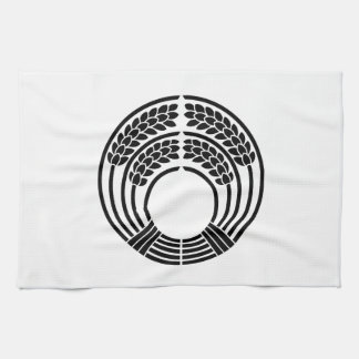 The god of harvest holding rice plant kitchen towel