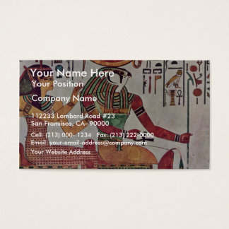 The God Re-Harakleti Amentit And The Goddess Of Th Business Card