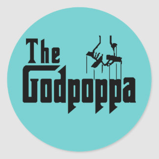 The Godpoppa Fun Father s Day Apparel Sticker
