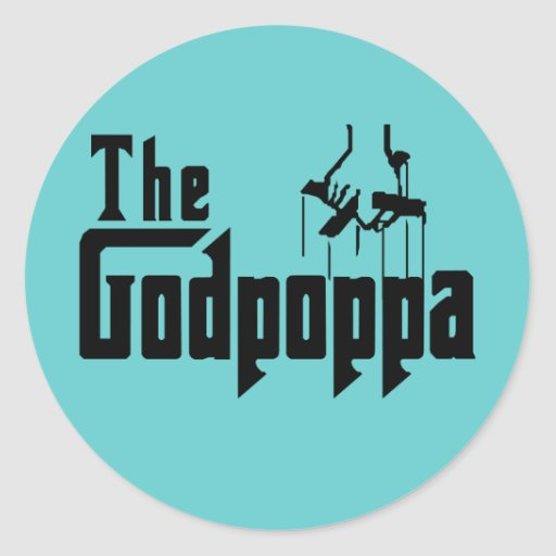 The Godpoppa Fun Father's Day Apparel Sticker