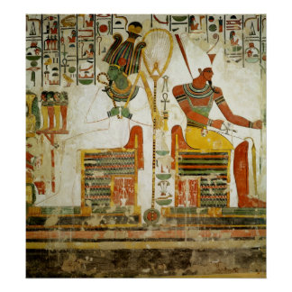 The Gods Osiris and Atum from Tomb of Posters