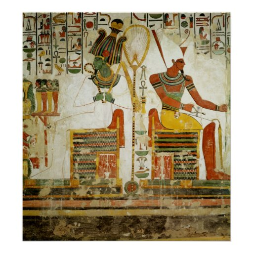 The Gods Osiris and Atum, from Tomb of Posters