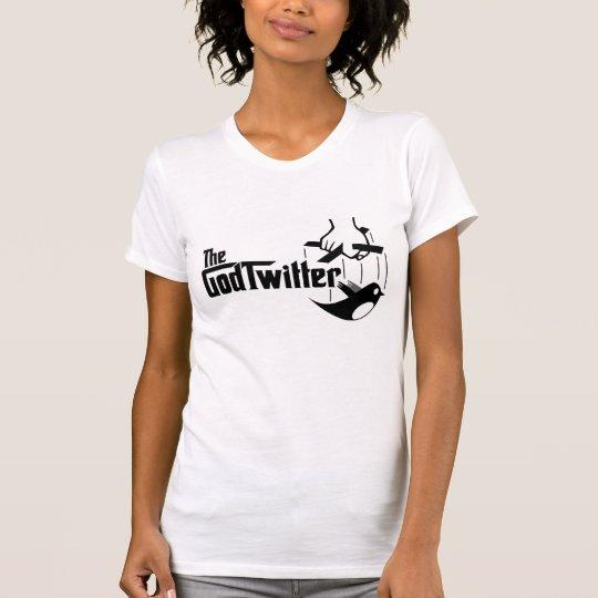 The GodTwitter - Ladies, White T-Shirt