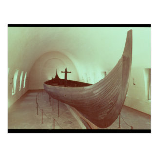 The Gokstad longship (wood) Postcard