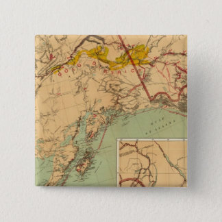 The Gold and Coal Fields of Alaska 2 Inch Square Button