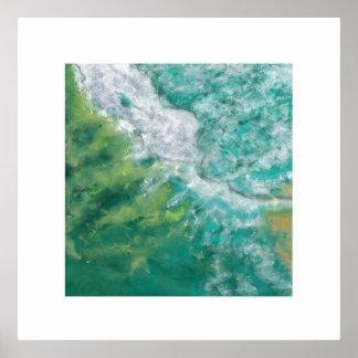 The Gold Coast Ocean (Zen Square) Poster