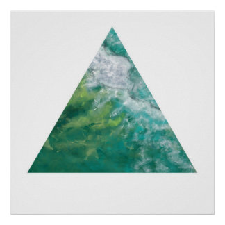 The Gold Coast Ocean (Zen Triangle) Poster