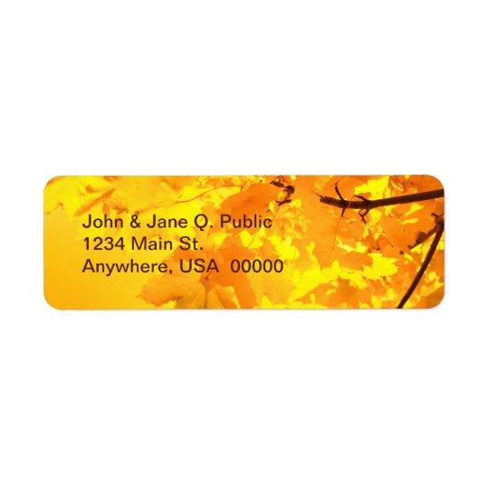 The Gold of Autumn Return Address Label
